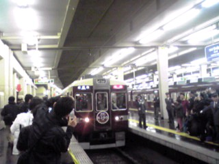 阪急電鉄6300系8連特急専用車最終列車