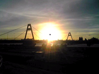 夕日のある光景