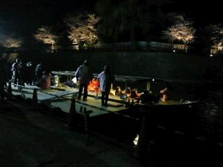 夜桜花見船